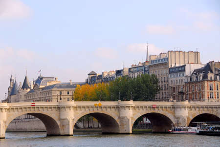 Stone bridge over Seine in Paris France Stock Photo - 609315