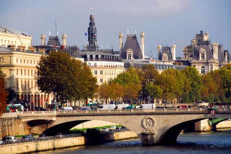 Stone bridge over Seine in Paris France Stock Photo - 609314