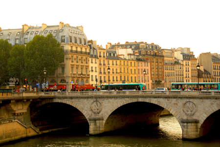 Stone bridge over Seine in Paris France Stock Photo - 609311