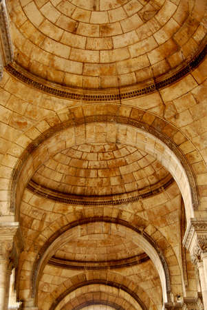 Fragment of an old cathedral with arches Stock Photo - 642023