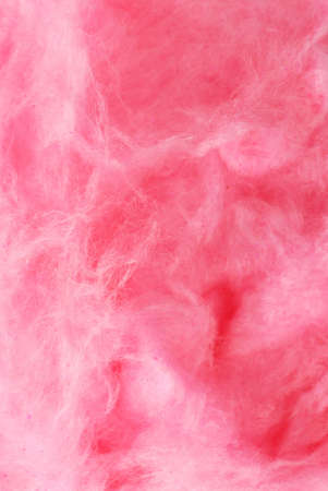 Background of pink cotton candy close up photo