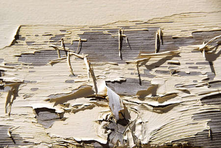 Background of old wood with peeling paint Stock Photo - 778045