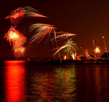 Fireworks display in Toronto view from the Beaches