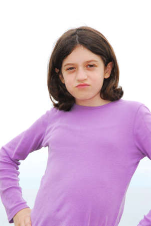 resent: Portrait of a young preteen girl with attitude