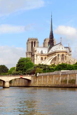 cite: Cathedral of Notre Dame de Paris and Isle de la Cite Stock Photo