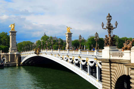 Alexander the third bridge over river Seine in Paris, France. Stock Photo - 1305178