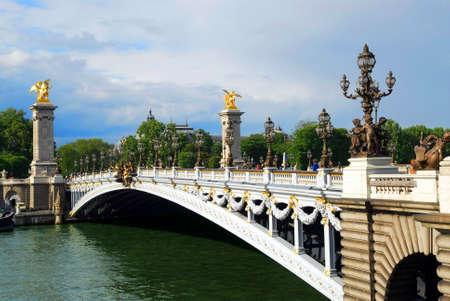 Alexander the third bridge over river Seine in Paris, France. Stock Photo - 1305178
