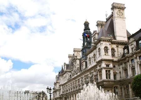 Historical building of Hotel de Villle in Paris France Stock Photo - 1327204