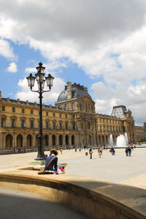 Building of Louvre museum on summer day in Paris, France Stock Photo - 1327210