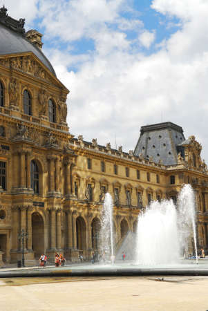 Building of Louvre museum on summer day in Paris, France. Stock Photo - 1327220