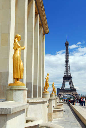 View of Eiffel tower from Trocadero. Paris, France. Stock Photo - 1327211