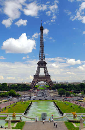 View of Eiffel tower from Trocadero. Paris, France. Stock Photo - 1327209