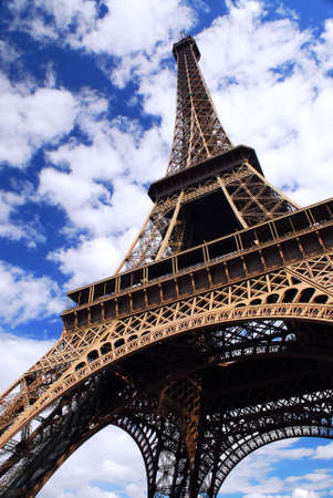 Eiffel tower on background of blue sky in Paris, France Stock Photo - 1327227