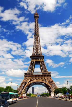 Eiffel tower on background of blue sky in Paris, France Stock Photo - 1342677