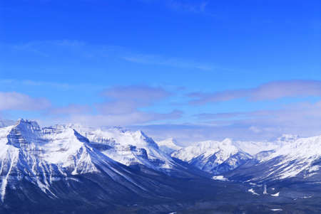 Snowy mountain ridges at Lake Louise in Canadian Rocky mountains Stock Photo - 1353521