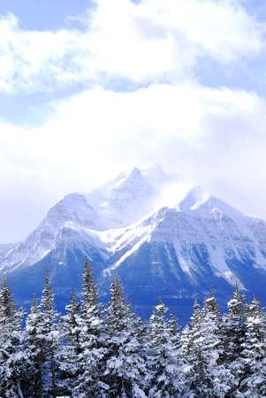 Snowy mountain in Canadian Rockies in winter Stock Photo - 1439296
