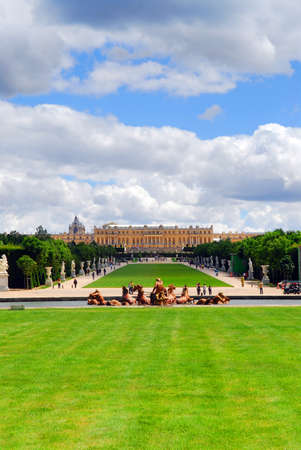 Simmer view of Versailles palace and gardens, France. photo