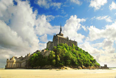 View on Mont Saint Michel abbey in France photo