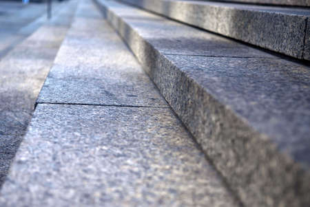 Stairway with granite stone steps in perspective, close up Stock Photo - 1898634
