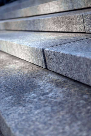 Stairway with granite stone steps in perspective close up Stock Photo - 1898631