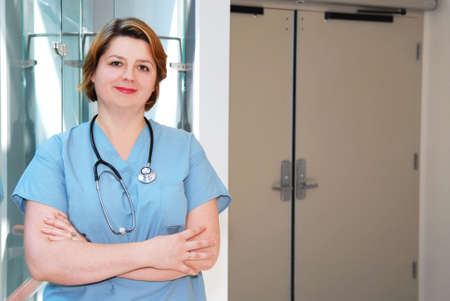 Portrait of a smiling nurse in a hospital Stock Photo - 2053626