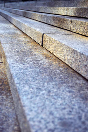 close up: Close up on granite stairs in perspective