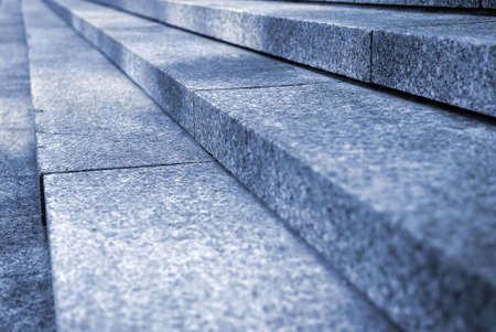 Close up on granite stairs in perspective  photo