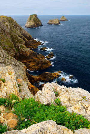 Scenic view from Pointe de Penhir on Atlantic coast in Brittany, France photo