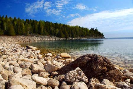 Clear waters of Georgian Bay at Bruce peninsula Onta Canada Stock Photo - 2447817