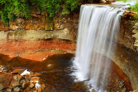 Scenic waterfall in wilderness in Ontario, Canada. photo