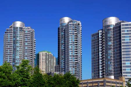 Highrise buildings of a modern condominium complex  photo