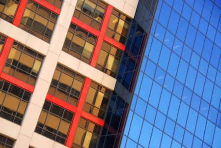 Modern office buildings, urban architectural abstract photo