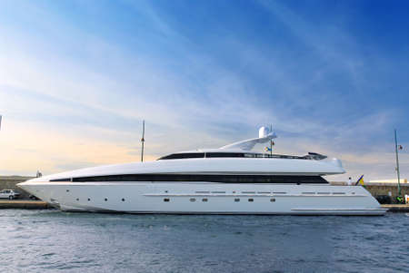 Large luxury yacht anchored at St. Tropez in French Riviera Stock Photo - 2691132