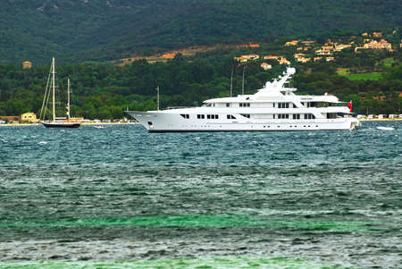 Luxury yacht at the mediterranean coast of French Riviera Stock Photo - 3051558