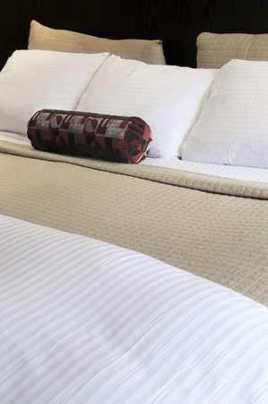 Comfortable bed in upscale hotel close up Stock Photo - 3128636