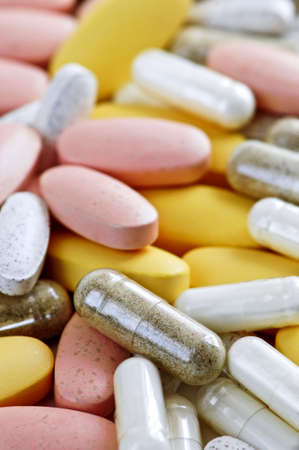 Mix of vitamins and herbal supplements close up Stock Photo - 3143642