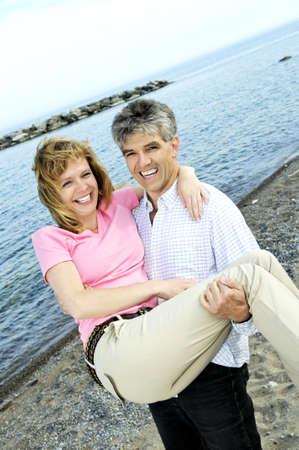 Mature  couple of  boomers enjoying outdoors Stock Photo - 3239830
