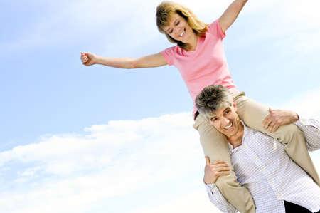 boomers: Mature  couple of  boomers enjoying outdoors Stock Photo