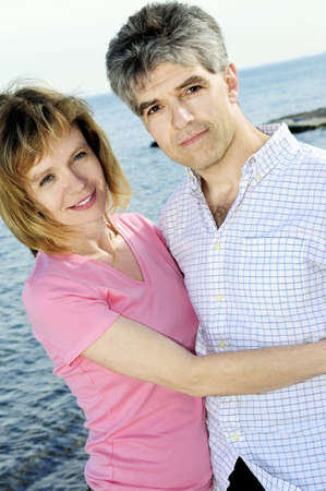 boomers: Mature  couple of  boomers enjoying outdoors Stock Photo