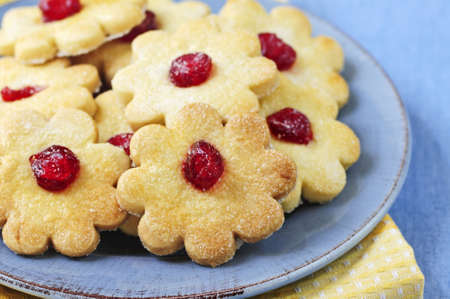 shortbread: Fresh shortbread cookies served on a plate