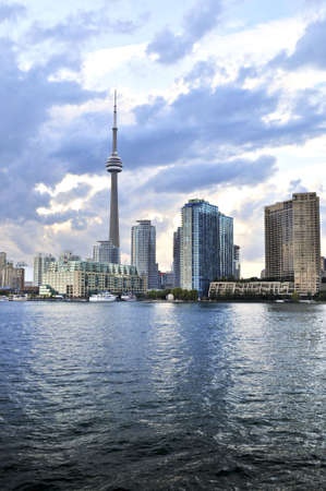 Toronto city waterfront skyline in late afternoon Stock Photo - 3664402