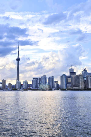 Toronto city waterfront skyline in late afternoon photo