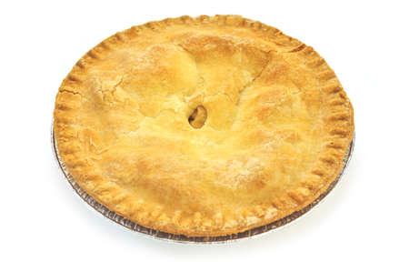 Whole apple pie isolated on white background Stock Photo - 3821344