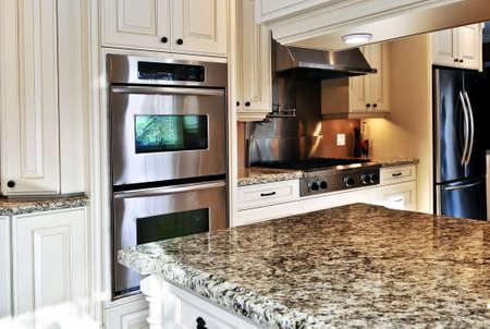 Interior of modern luxury kitchen with stainless steel appliances Stock Photo - 3903193