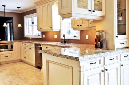 Inter of modern luxury kitchen with granite countertop Stock Photo - 3903197