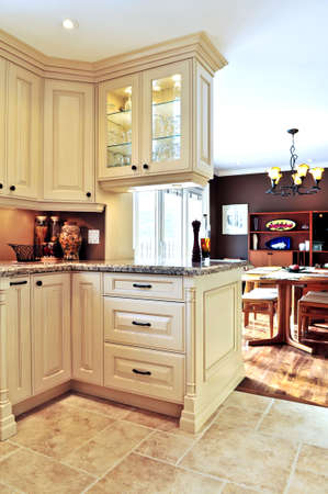 home decorating: Modern luxury kitchen and dining room interior