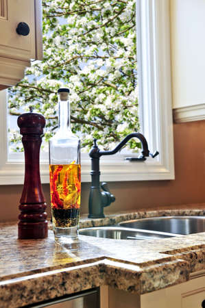 Modern luxury kitchen interior with granite countertop Stock Photo - 3930815