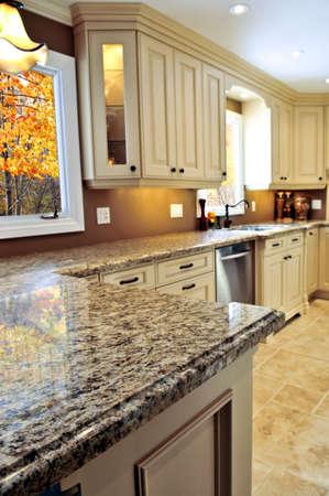 Modern luxury kitchen interior with granite countertop Stock Photo - 3930812