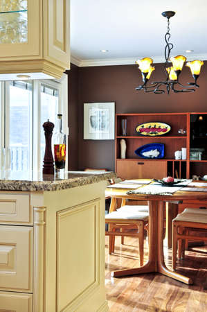 Modern luxury kitchen and dining room interior Stock Photo - 3942976