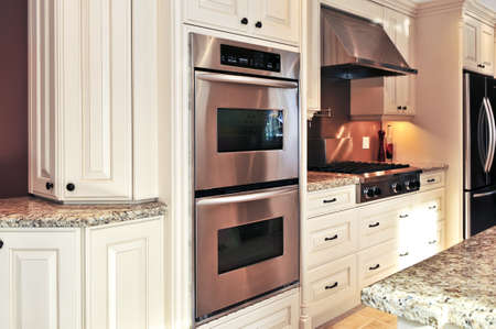 Inter of modern luxury kitchen with stainless steel appliances Stock Photo - 3942978